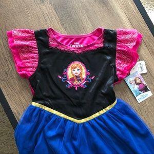 Disney Frozen Princess Anna Dress Small NWT